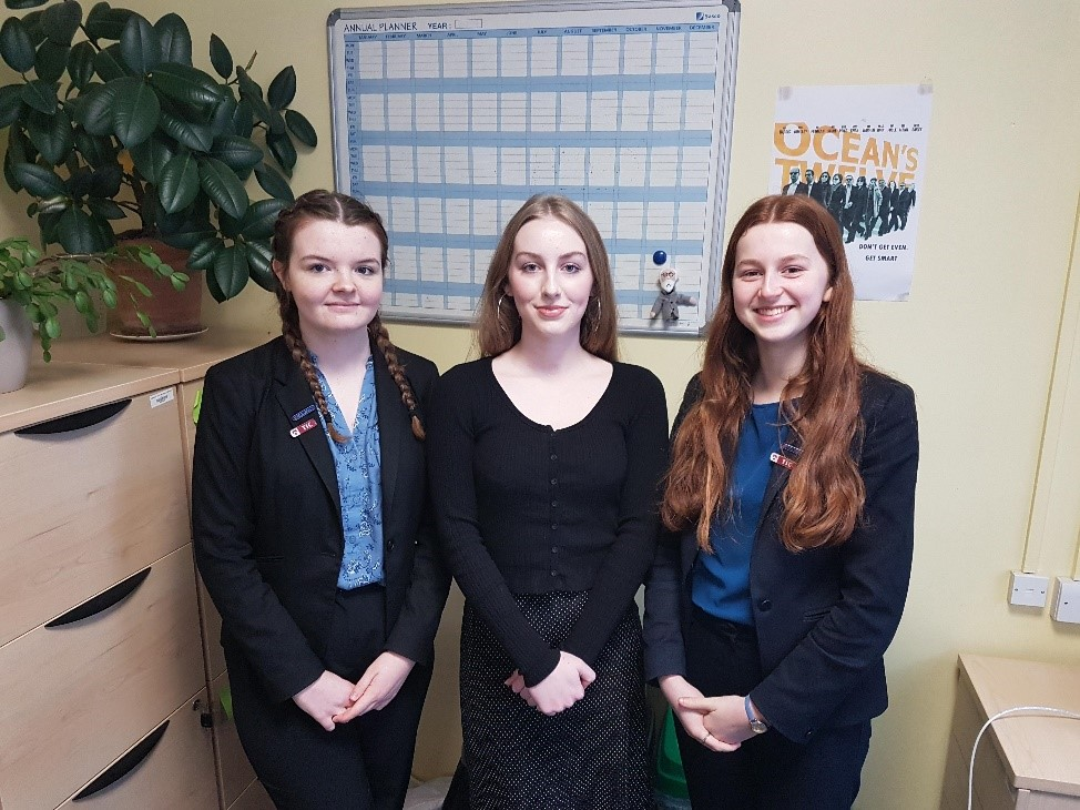 Successful Oxbridge applicants from left: Amelia Reeves. Sophia Iddon and Anna Geary